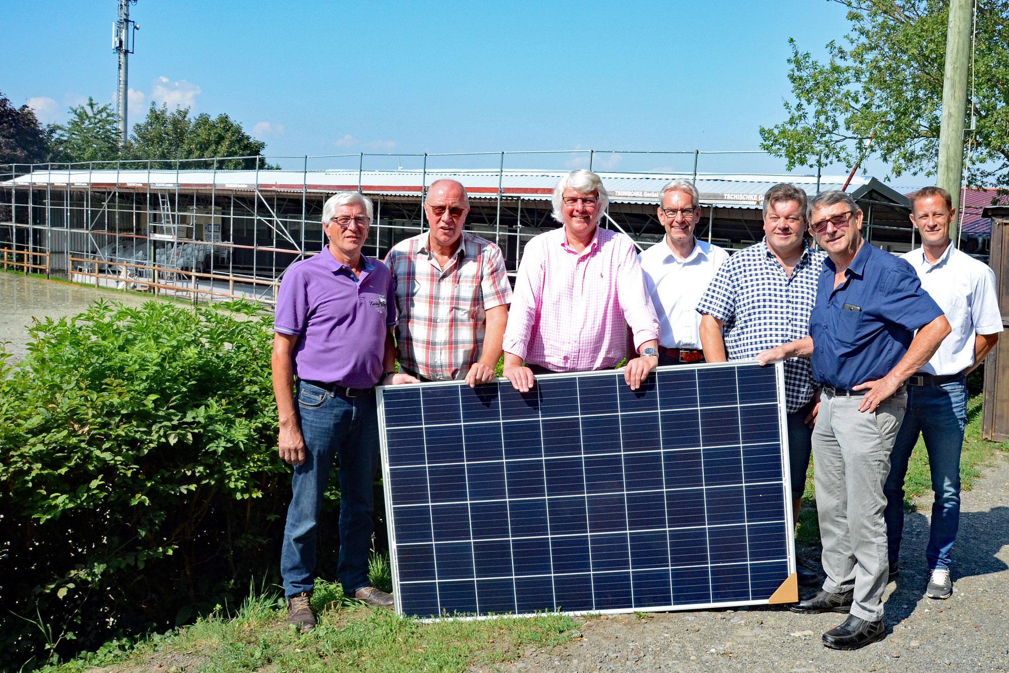 Umweltschutz im Reitsport RV Exter Oekostrom Photovoltaik Kreis Herford